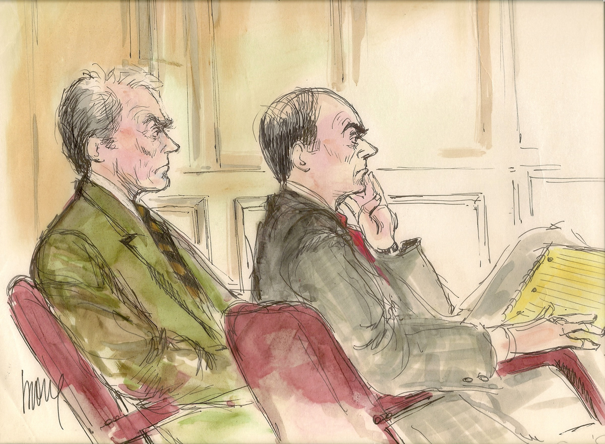 Clint Eastwood Palimony Trial Courtroom Illustration