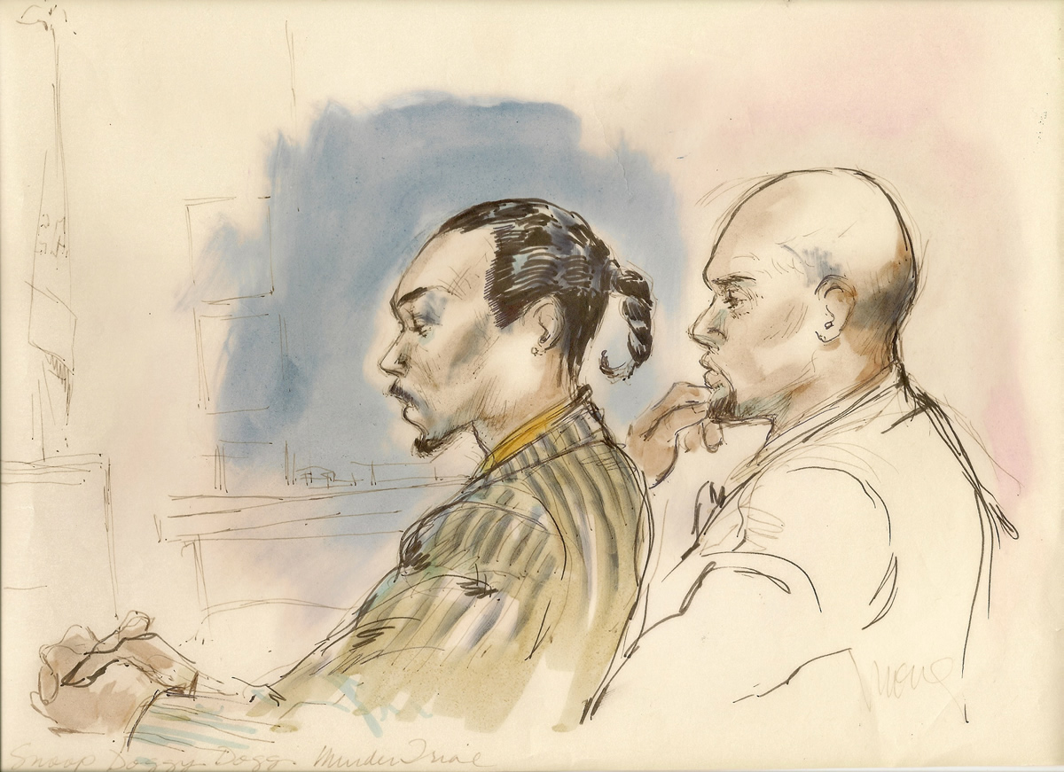 Snoop Dogg Murder Trial Courtroom Illustration