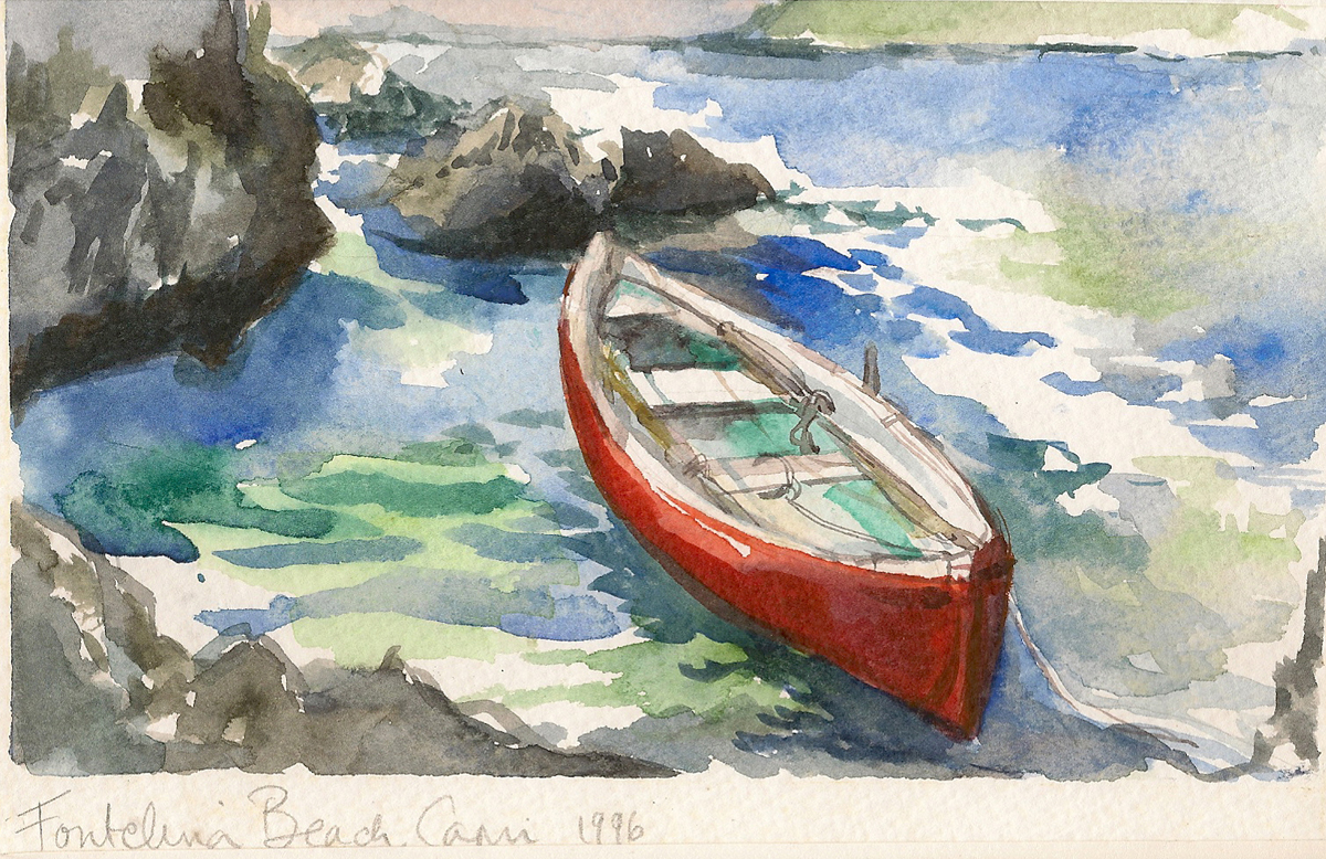 Travel Journal Illustration Capri Italy