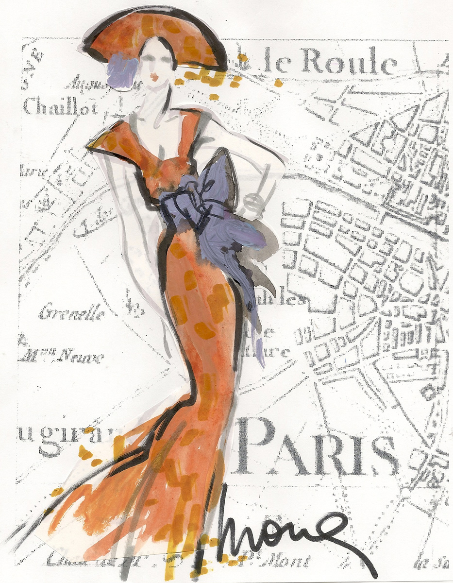 Haute Couture Fashion Illustration Paris