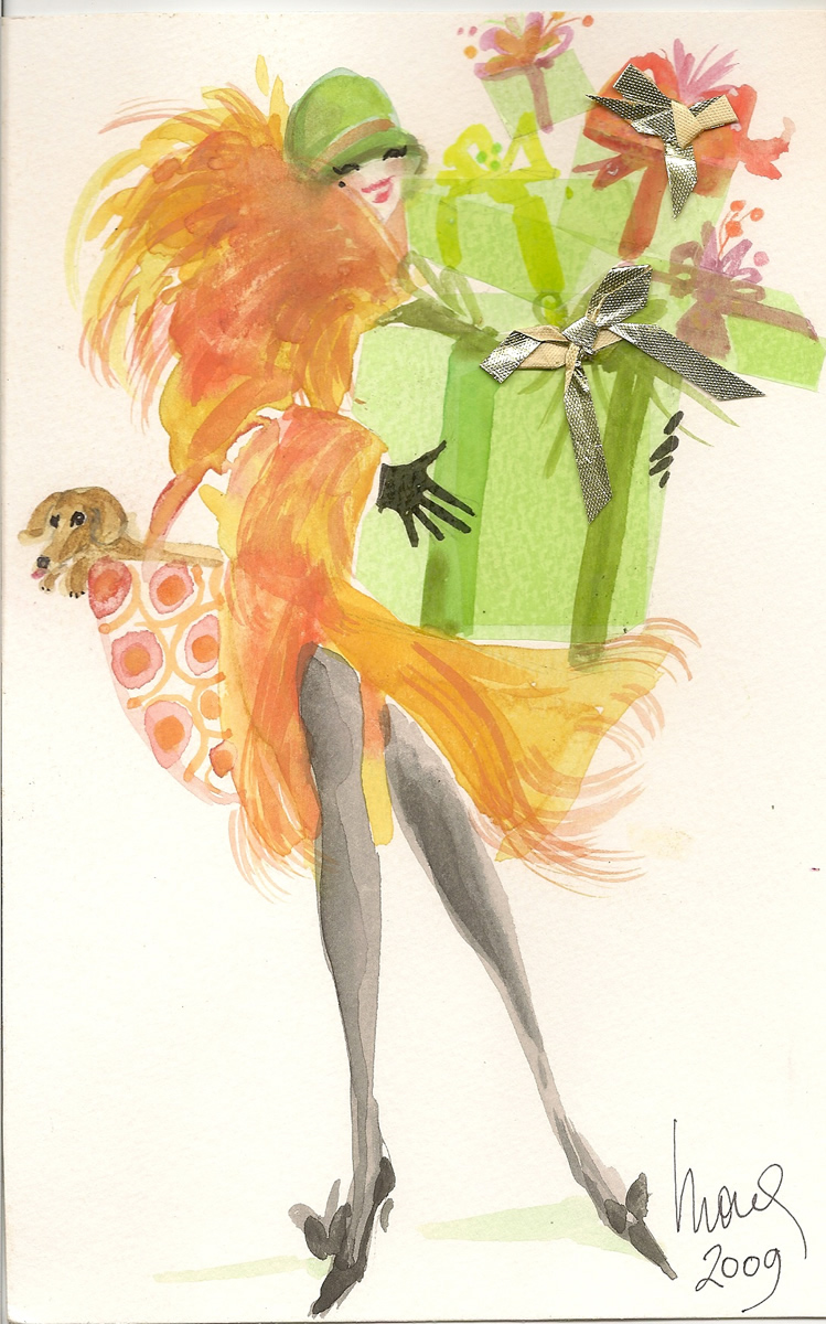 Haute Couture Fashion Illustration Furs