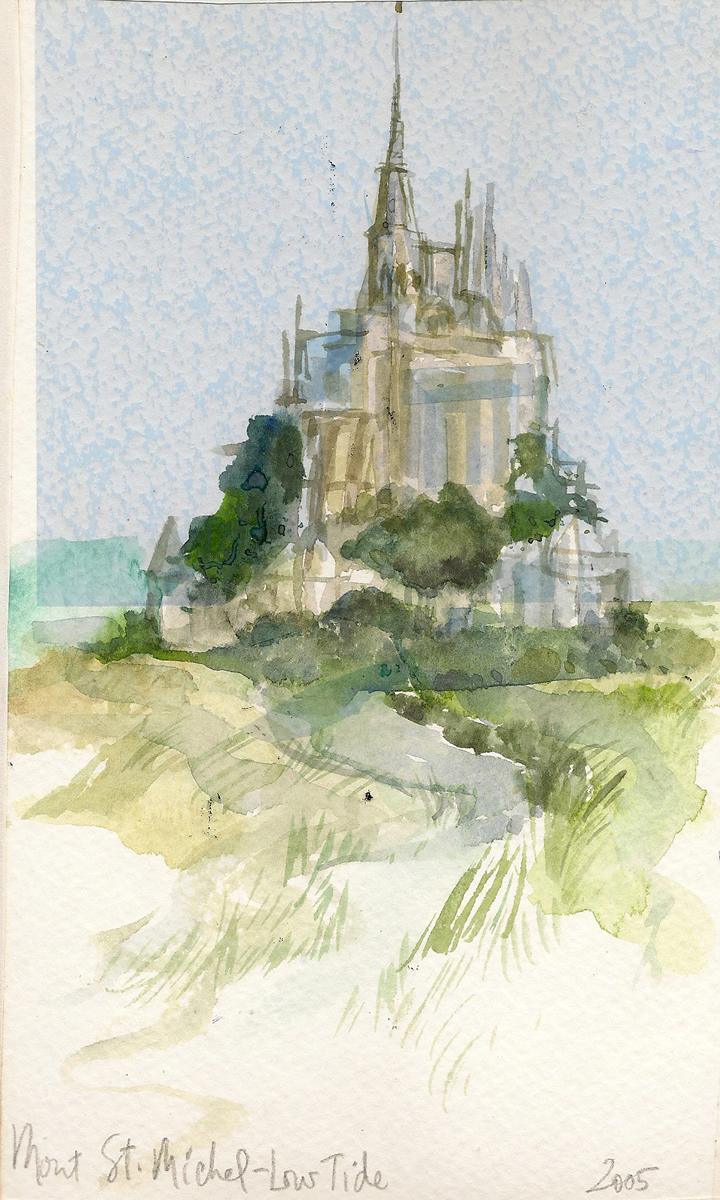Mont St Michel Travel Illustration France