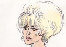 Dolly Parton Copyright 9 to 5 Courtroom Illustration