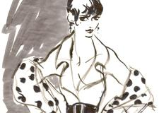 Fifties Haute Couture Fashion Illustration