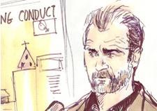 Mel Gibson Stalker Trial Courtroom Illustration
