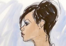 Rihanna, Chris Brown Hearings Courtroom Illustration