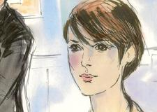 Winona Ryder Shoplifting Trial Courtroom Illustration