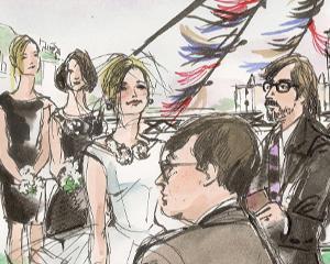 Dancing at Wedding Illustration