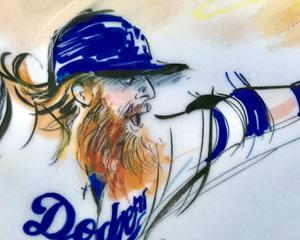 LA Dodgers illustration - Justin Turner - 2017 World Series - Mona Edwards