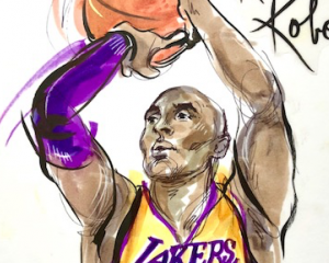 Kobe Bryant drawing by Mona Edwards