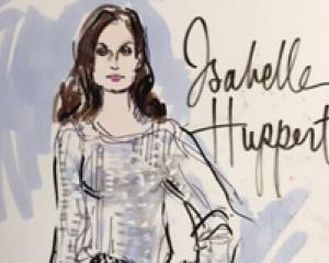 Academy Awards Red Carpet Arrivals Isabelle Huppert