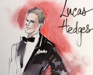 Academy Awards Red Carpet Arrivals, 2017 Lucas Hedges