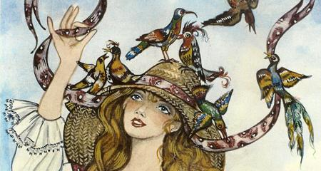Bird Girl Childrens Book Illustrations