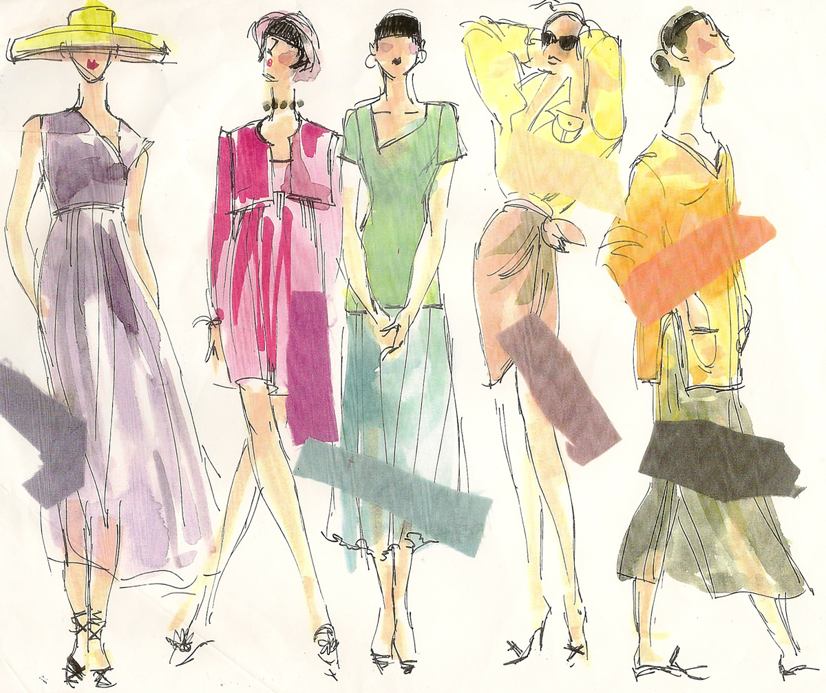 Summer Fashion Illustration Colorways