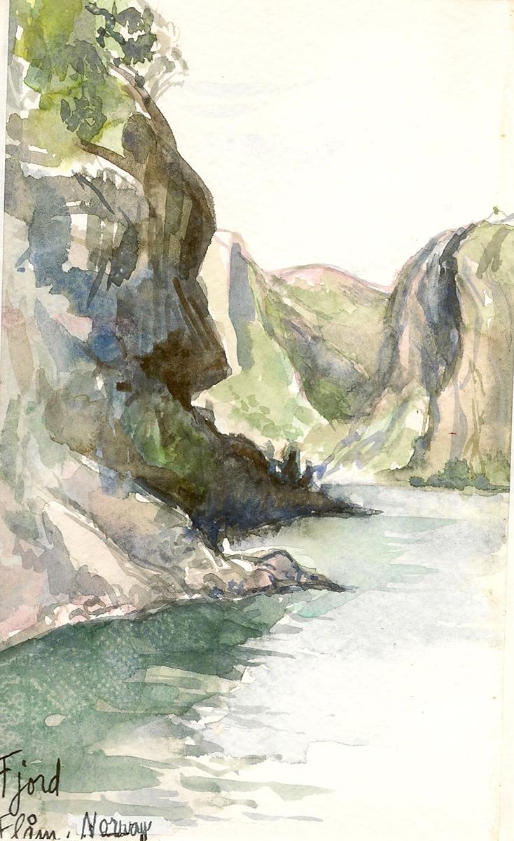 Fjord Norway Travel Illustration