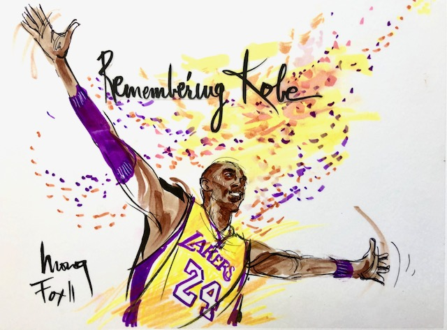 Kobe Bryant illustration by Mona Edwards
