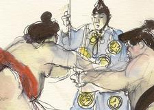Sumo Wrestling Tokyo Travel Illustraion
