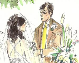 Wedding Vows Wedding Illustration